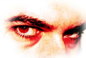 'bad' man with brooding mean eyes