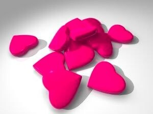 hot pink lovehearts