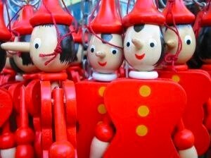 group of pinocchio  dolls