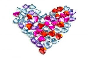 love heart with jewels