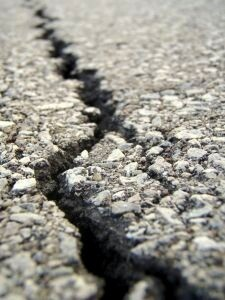 crack in the asphalt