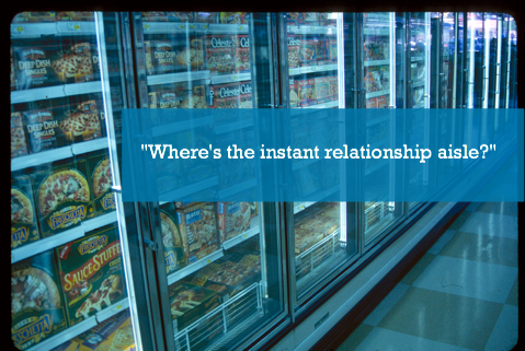where's the instant relationship aisle?