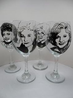 Golden Girls wine glasses
