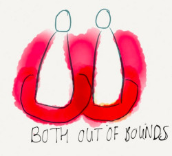 Both out of bounds with your boundaries