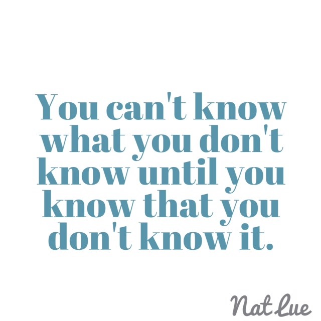 On Intuition: You can't know what you don't know until you know that you don't know it