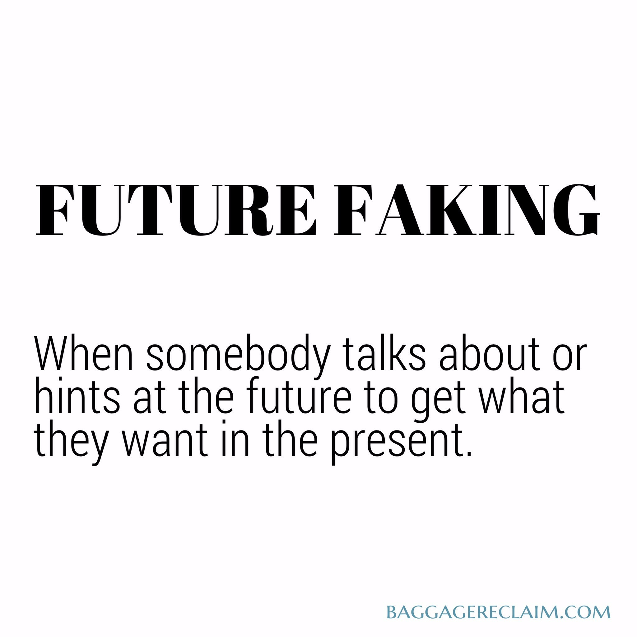 Future Faking is partly about using intentions to enhance self-image