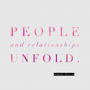 People and relationships unfold