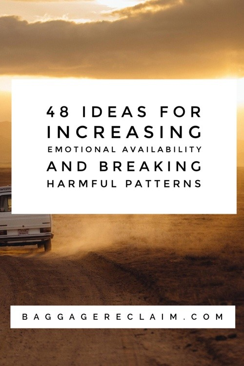 48 ideas for increasing emotional availability