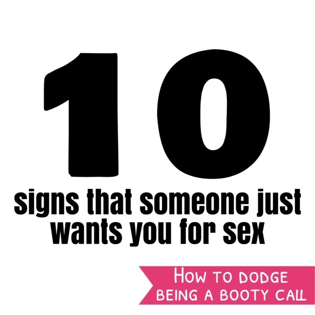 Signs he only wants you for sex