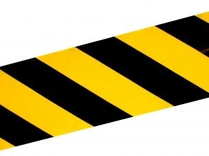 crime scene yellow and black tape