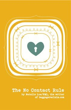 No Contact Rule book cover by Natalie Lue Baggage Reclaim