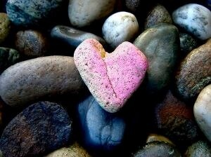 pink heart of stone