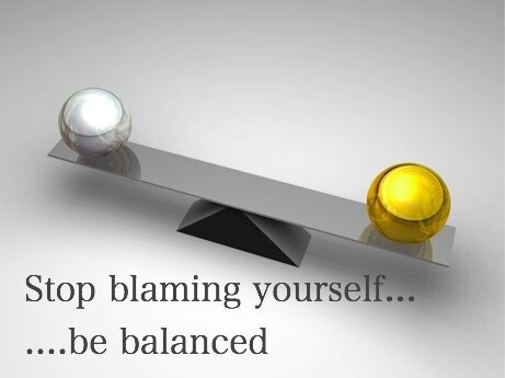 stop blaming yourself