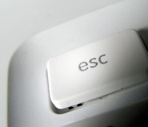 esc key from the keyboard