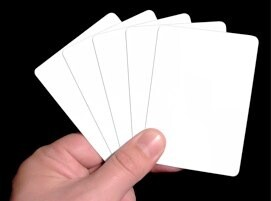 bluffing with blank cards