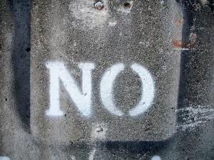 NO isn't a dirty word