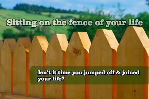 Sitting On The Fence The Position You Adopt When You Fear Making