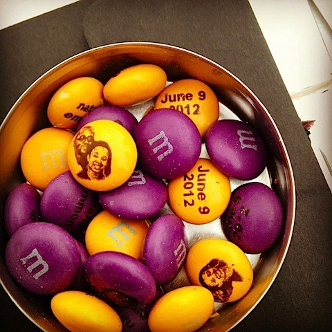 m&m's for nat's wedding