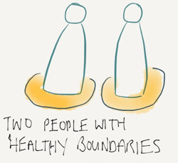 Two people with healthy boundaries.