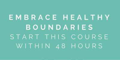 Embrace Healthy Boundaries