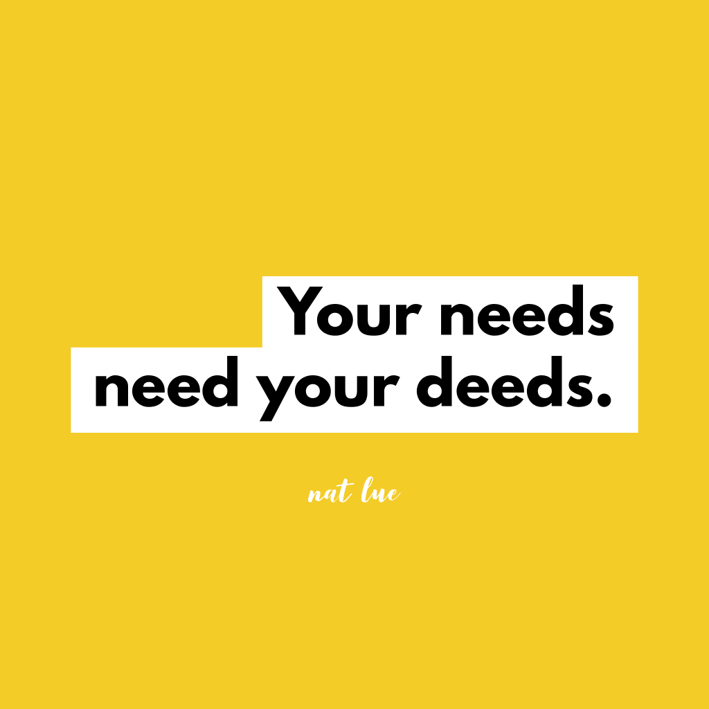 """Your needs need your deeds"". Understanding needs and the 5 love languages"